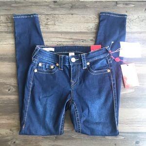 True Religion Helle Mid Rose Super Skinny Jeans